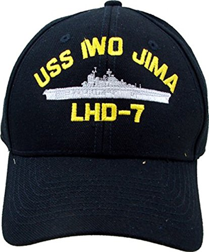 - U.S. Navy USS Iwo Jima LHD-7 embroidered baseball cap. Made in USA