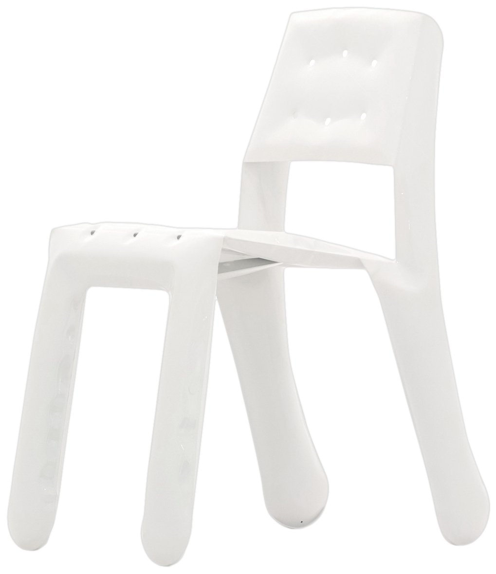 Zieta KC05/ALU/9003 Stuhl Chippensteel 0,5 Aluminium, weiß