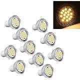 10x 5W GU10 Bulb Lamp 16 LED 5630 SMD Warm White Light Spotlight 220V-240V AC
