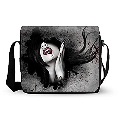 32cc6ec3e7 Attractive Dark Gothic Messenger Bag Oxford Fabric lovely ...