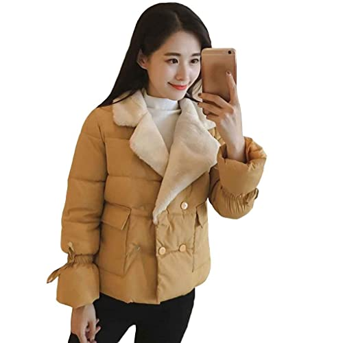 KOROWA Abrigo corto invierno de mujer Abrigo corto de algodón grueso, chaqueta acolchada