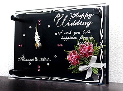 【名入れ】【時計】刻印無料!お名前とメッセージが刻める世界にたったひとつのキラキラスワロフスキー付きの時計です! B017EM7KSG
