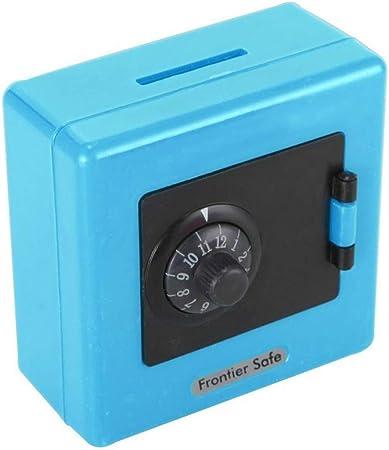 MYKK Hucha Combinación Cerradura Moneda Ahorro de Dinero Caja de Almacenamiento Caja de Seguridad Niños Juguete Cajas de Dinero 8.8x8.8x6cm Azul: Amazon.es: Hogar
