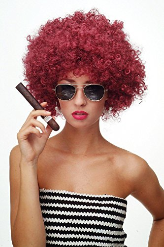 Premium wigs liap Wig party Afro wig many performances both men and women , wine red