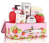 Pure-Spa-in-a-Basket-Deluxe-Gift-Set-for-Women-Fresh-Strawberry