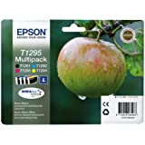 Epson C13T12954020 Confezione 4 Cartucce Blister RS, RF Mela-L T1295, Multicolore