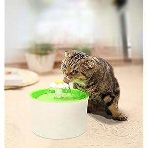 Fuente de Agua Potable, Fuente de Agua para Mascotas Eléctrico Automático Estilo de la Flor