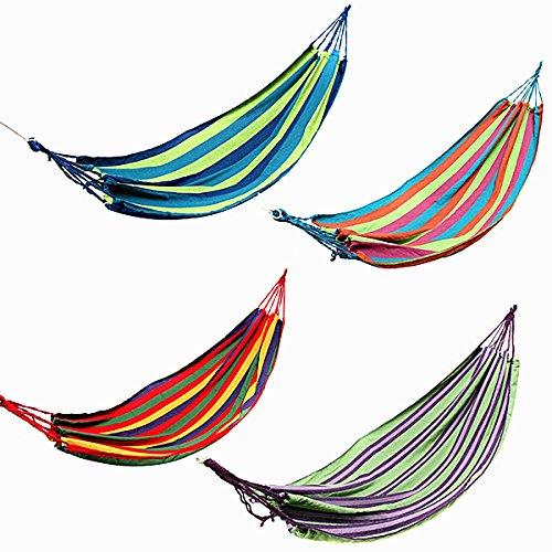 [해외]dipshop 야외 다채로운 스트라이프 캔버스 해먹 스윙 거짓말 캠핑 하이킹 피크닉 침대/dipshop Outdoor Colorful Stripe Canvas Hammock Swing Lying Recline Bed