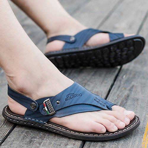 ZHNAGJIA Sommer Sandalen, Die Zehen Männer, Outdoor Beach Schuhe, Sandalen, Hausschuhe, Sandalen, Schuhe Für Herren, 39, Blau 6203