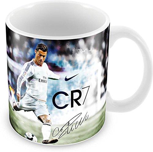 D&D Cristiano Ronaldo Printed Ceramic Coffee Cup/Mug ( 330 ml, Ceramic (330 Coupe)