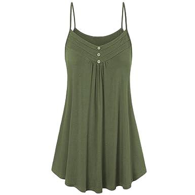 on sale d87b9 8c015 POachers Débardeur Long Femme Ete Sling sans Manche Col V T-Shirt Femme  Sexy Plage