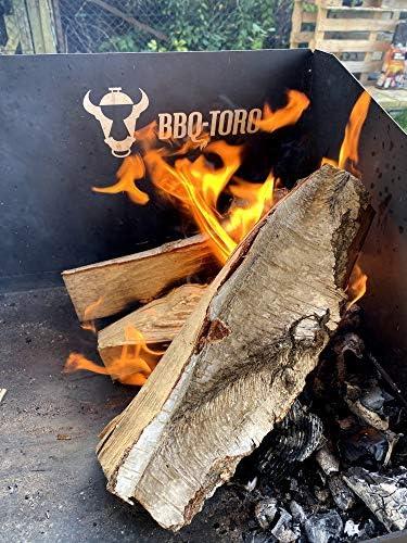 BBQ-Toro Table pour Dutch Oven | 75 x 40 cm | Noir | Table en acier pour sauteuse et accessoires de grillade | Table à grillades avec pieds réglables