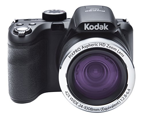 "Kodak PIXPRO Astro Zoom AZ421-BK 16MP Digital Camera with 42X Optical Zoom and 3"" LCD Screen (Black)"