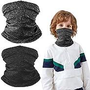 Roysmart Kids Face Mask Mouth Cover Bandanas Multifunctional Neck Gaiter, UV Protection Fabric Reusable Washab