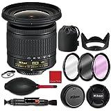 Nikon AF-P DX NIKKOR 10-20mm f/4.5-5.6G VR Lens with HB-81 hood, CL-1015 soft case, 3 piece filter kit (UV, CPL, FLD), Rubber air dust blower, Lens cleaning pen