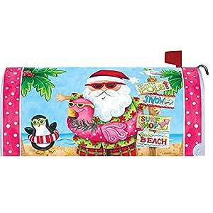 Papá Noel vacaciones buzón makover Cover–Vinilo witn magnético tiras para buzón de acero estándar rurales–Autor, con licencia y de marca by Custom Decor Inc.