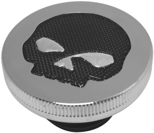 06-14 HARLEY FLHX2: Biker's Choice Gas Cap With Skull Screen by Biker's Choice