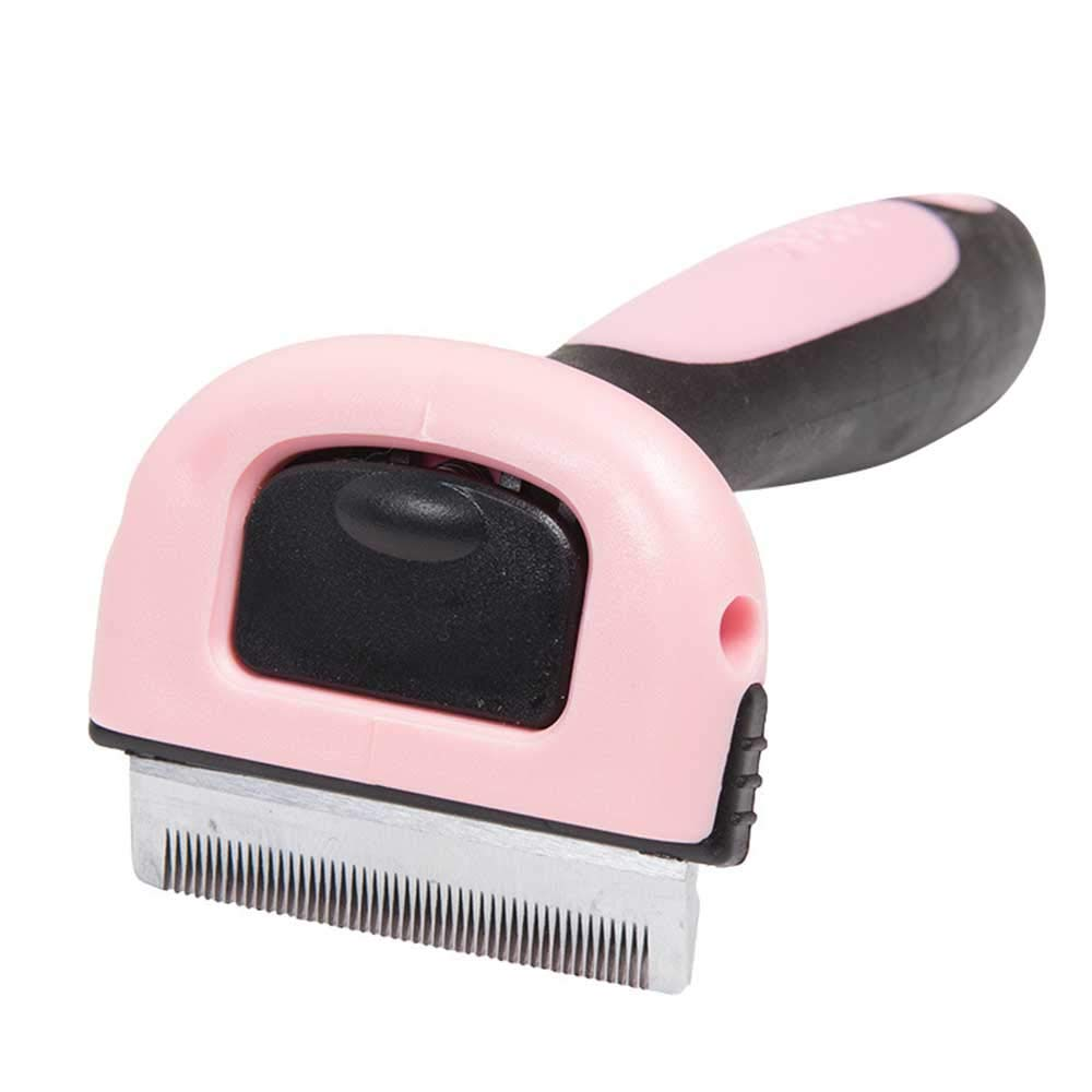 Long Elliot Pet Grooming Brush with Stainless Steel Knife for Grooming & Massaging Dogs, Cats & Other,Animals Professional Deshedding Tool & Pet Grooming Brush,S