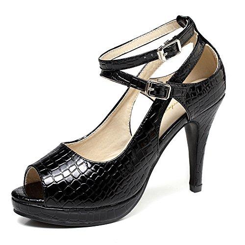 2313599497f Jual getmorebeauty Women s Snake Stripe Ankle Straps Dress Heeled ...