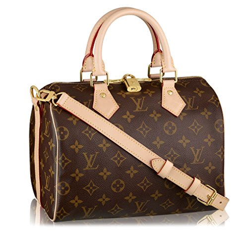 (Louis Vuitton Monogram Canvas Speedy Bandouliere 25 Article:M41113 Made in France )