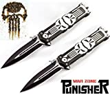Unlimited Wares 2-Pack Punisher Assisted Opening Folding Knife 5-Inch Closed