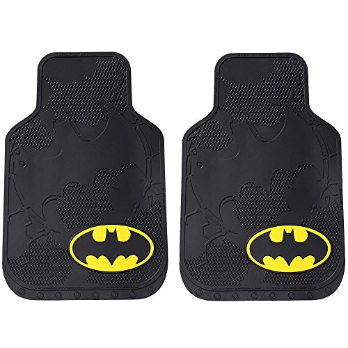 DC+Comics Products : Batman Colored Bat Logo Shattered Superhero Cartoon Movie Character DC Comics Car Truck SUV Universal-Fit Front Seat Rubber Floor Mats - Pair