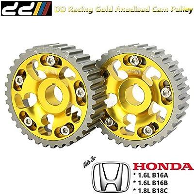 Amazon.com: DD Gold Anodized Cam Gear Pulley Fit Honda Civic CRX Del Sol EF9 EG6 EK4 EK9 Acura Integra GSR DB8 DC2 B16A B16B B18C DOHC VTEC: Automotive