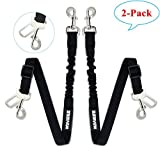 WINSEE Dog Pet Seat Belt Safety Leads Adjustable Dog Car Seat Belt Leash with Elastic Bungee Buffer Made from Nylon Fabric