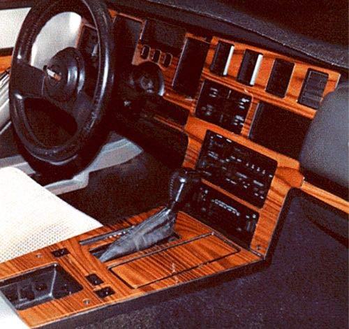 - CHEVROLET CHEVY CORVETTE C-4 INTERIOR WOOD DASH TRIM KIT SET 1986 1987 1988 1989