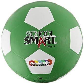 Escuela inteligente pelota de fútbol - tamaño 5 - verde: Amazon.es ...