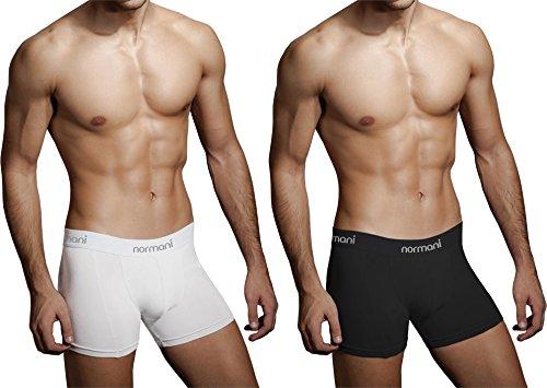 4 x Herren Unterwäsche Boxershorts original normani® Exclusive Farbe Schwarz/Weiß Größe XL