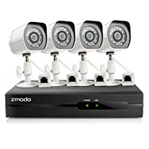 Zmodo SPoE Security System -- 4 Channel NVR & 4 x 1080p IP Cameras and No Hard Drive