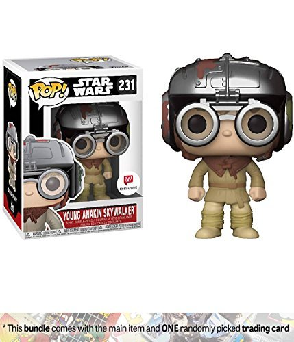 Young Anakin Skywalker (Walgreens Exclusive): Funko POP! x Star Wars Vinyl Figure + 1 Official Star Wars Trading Card Bundle (Young Anakin Skywalker)