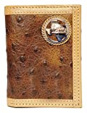 Custom Texas Praying Cowboy Church Ostrich Print trifold wallet