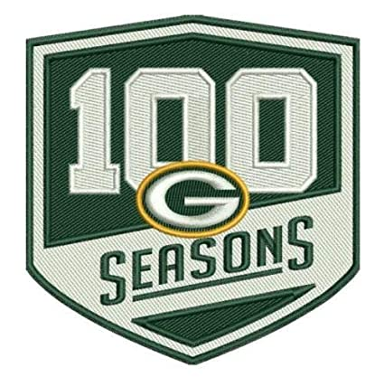 check out 31adf dd845 Green Bay Packers 100 Seasons Commemorative Ironon Football Jersey Patch  3.5