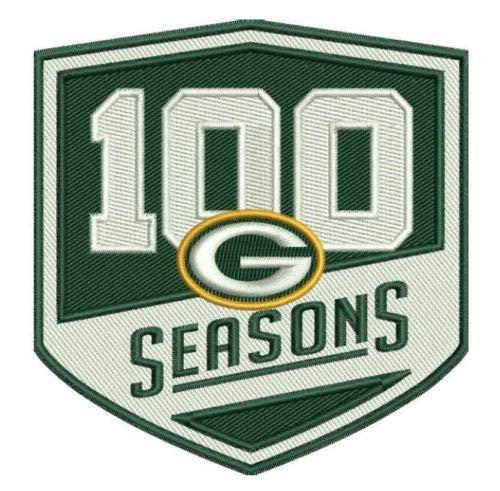 Green Bay Packers 100 Seasons Commemorative Ironon Football Jersey Patch 3.5