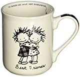 Enesco Children of the Inner Light Best Friends Stoneware Gift Mug, 16 oz.