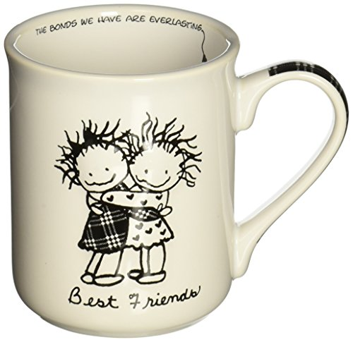 Enesco Children of the Inner Light Best Friends Stoneware Gift Mug, 16 oz. (Enesco Mug)