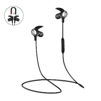 Auriculares Bluetooth EC Technology, Auriculares V4.1 Inalámbricos Deportivos con 6 Horas de Reproducción y Eliminación del Ruido Exterior, para iphone8 ...