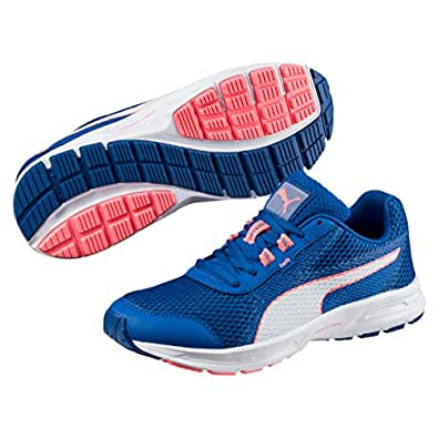 PUMA Women's Essential Runner Wn, Lapis Blue- White-Nrgy Peach,6 US