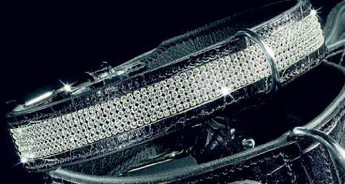 Hunter Black Label Collier avec cristaux Swarovski pour chien Noir Taille 42
