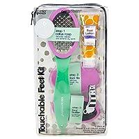 Onyx Professional Callus Remover Pedicure Paddle Set Kit, Foot Buffer, Rasp, Pedi Tool, File, Shaped Clipper, Lotion, 6 Piece
