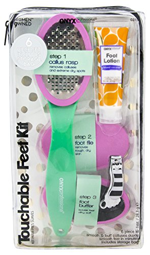 Onyx Professional Callus Remover Pedicure Paddle Set Kit, Foot Buffer, Rasp, Pedi Tool, File, Shaped Clipper, Lotion, 6 Piece (Kit Pedicure Professional)