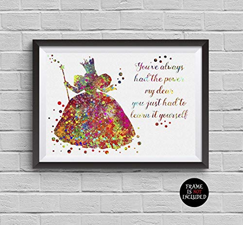 - Wizard of Oz Glinda The Good Witch Watercolor Print Disney Poster Artwork Wall Art Home Decor Wall Hanging