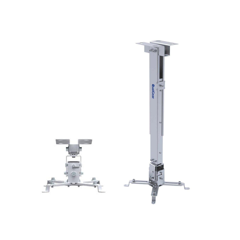 QualGear QG-PM-002-WHT Universal Projector Ceiling Mount, White by QualGear