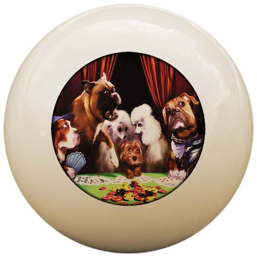 Sterling Gaming Dogs Playing Poker ''Salty Dogs'' Cue Ball by Sterling Gaming