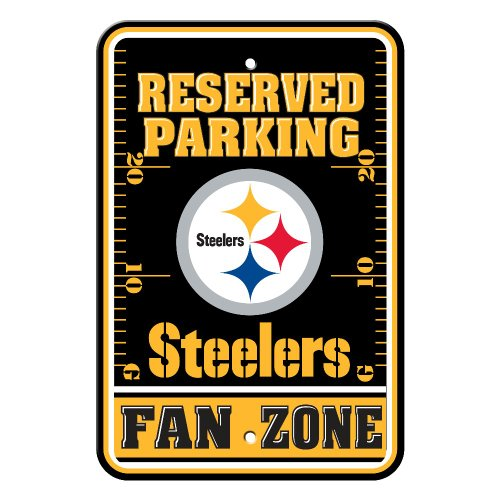 Pittsburgh Steelers Parking Sign - NFL Pittsburgh Steelers Parking Sign Wall Sign 12 x 18in