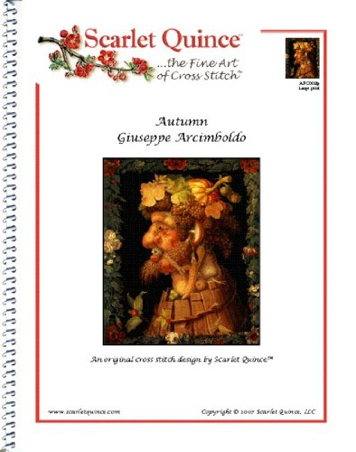 Scarlet Quince ARC003lg Autumn by Giuseppe Arcimboldo Counted Cross Stitch Chart, Large Size Symbols (Giuseppe Arcimboldo Autumn)