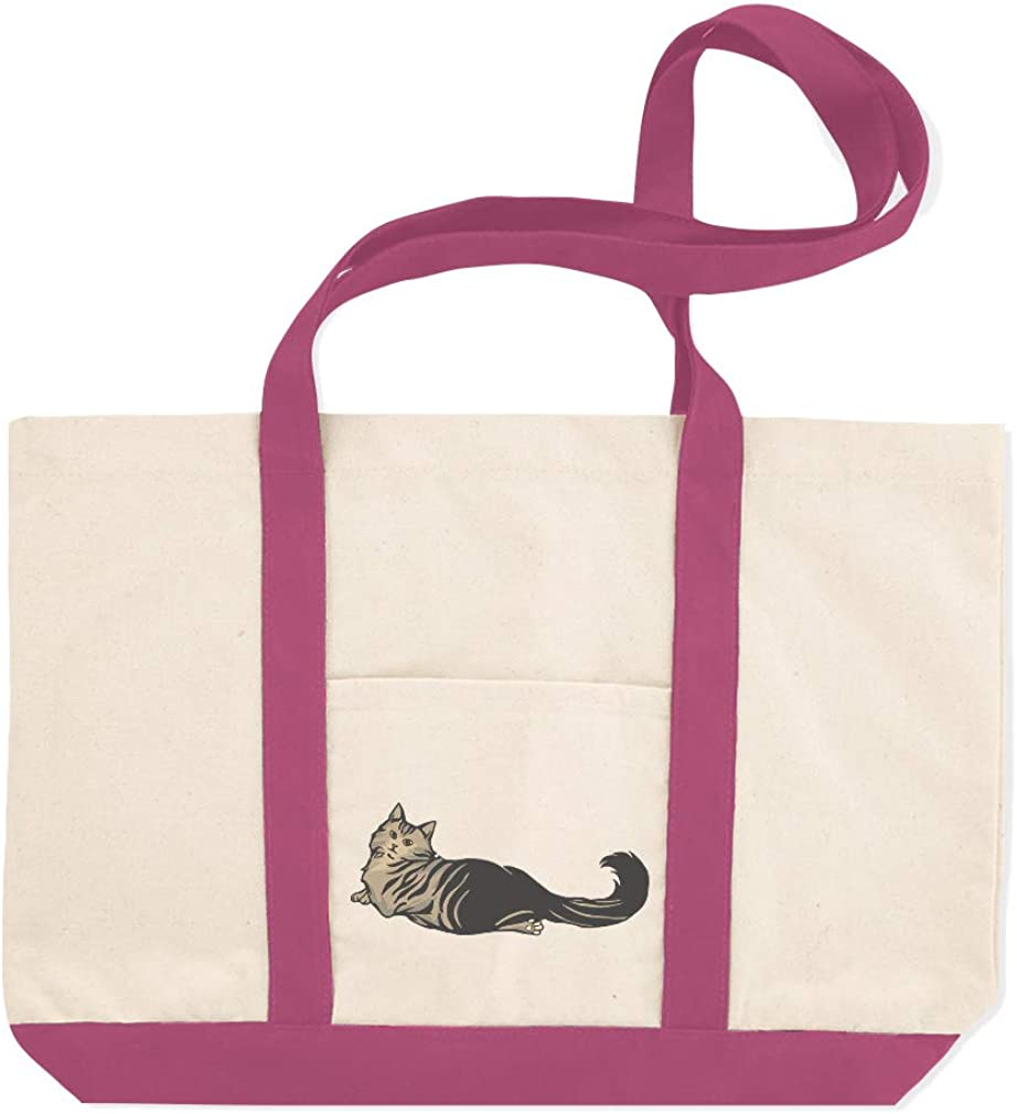 Canvas Shopping Tote Bag Norwegian Forest Cat B Norwegian Forest Beach Bags for Women