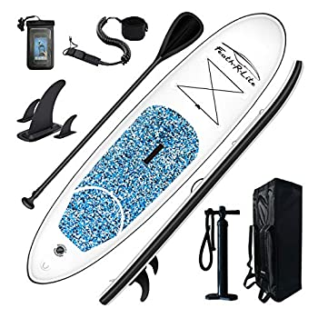 """FEATH-R-LITE Inflatable Stand Up Paddle Board 10'×30""""×6"""""""